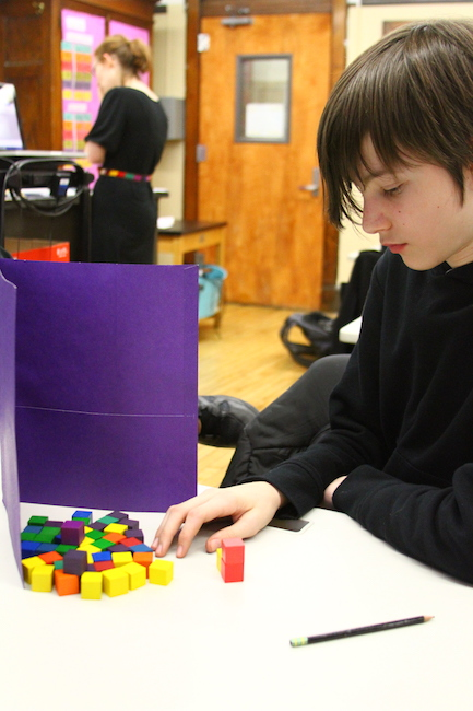 photo of student playing